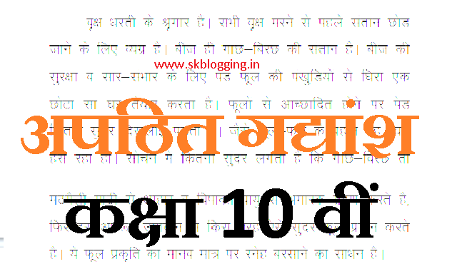 Unseen Passages in Hindi